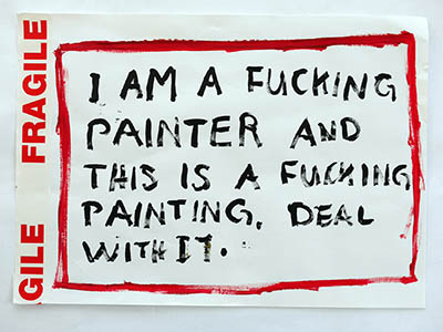 Fuck yeah: I am a painter and this is a painter. Deal with it.