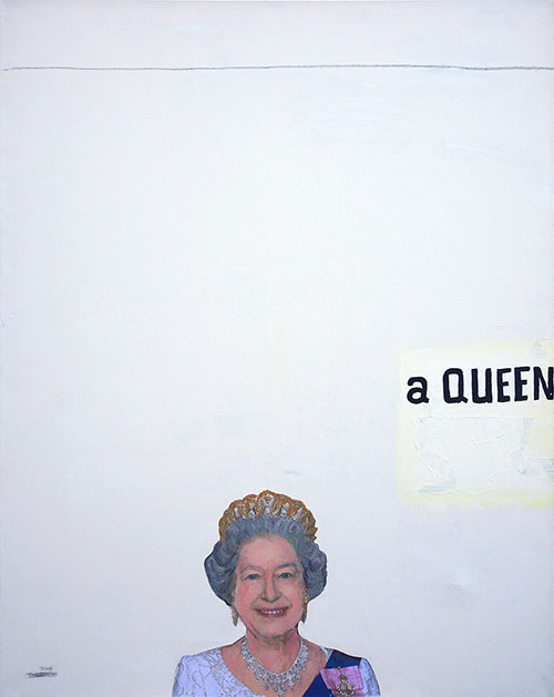 a Queen, painting by Jay Rechsteiner