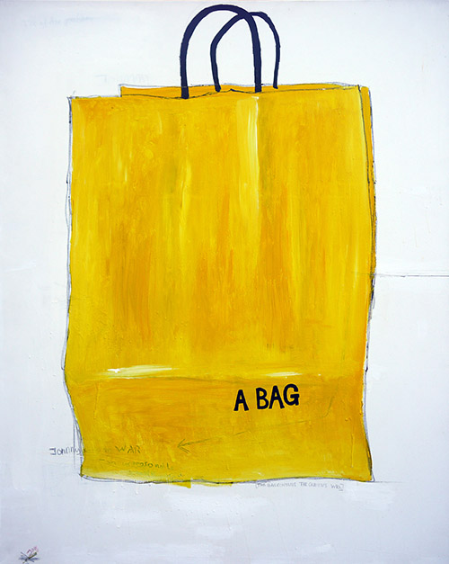 a bag, painting by Jay Rechsteiner