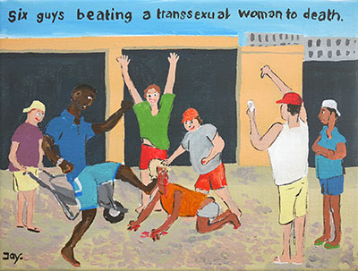 six guys beating a transsexual woman to death by Jay Rechsteiner