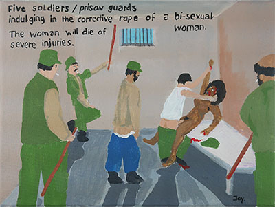 Corrective rape Bad Painting by Jay Rechsteiner