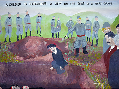 Bad Painting 102 by Jay Rechsteiner - nazi exectuing jews