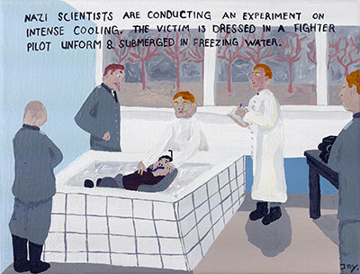 Bad Painting 104 by Jay Rechsteiner, Nazi experiments