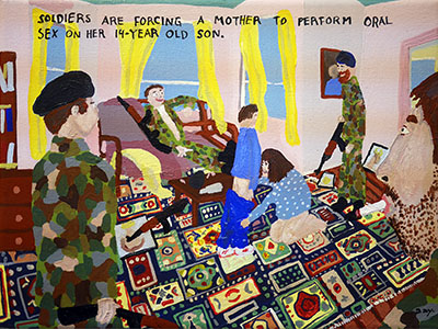 Bad Painting 107 by Jay Rechsteiner, rape during Bosnian war