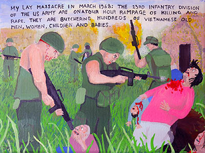 Bad Painting 109 by Jay Rechsteiner - the Ly May massacre, Vietnam