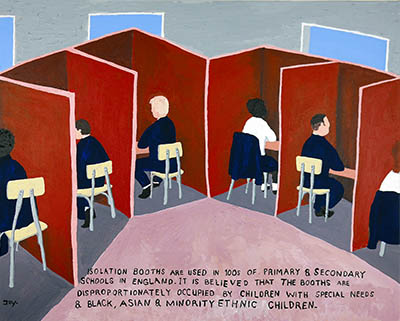 Bad Painting 114  isolation booths in UK schools by Jay Rechsteiner