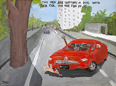 Bad Painting 125 by Jay Rechsteiner  Indonesia dog