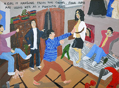 Bad Painting 130 by Jay Rechsteiner about the murder and torture of Junko Furuta
