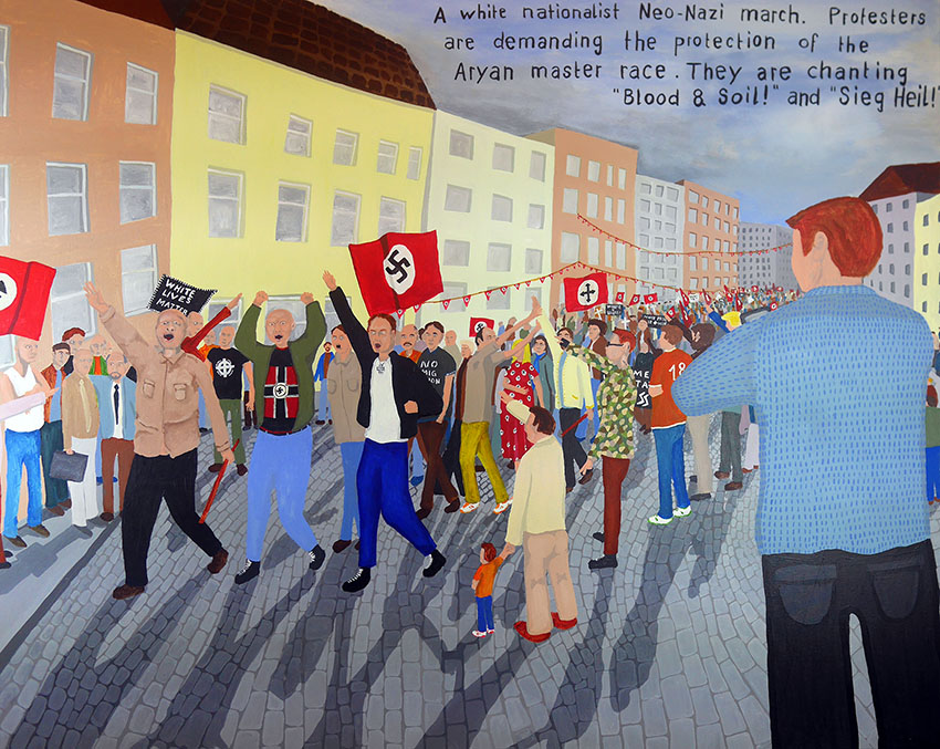 Bad Painting 67 by Jay Rechsteiner Neo-Nazi rally